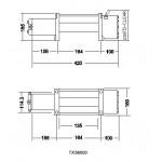 Електрическа лебедка за малки джипове 2721кг / 6000 LB - 12V - стоманено въже 24 метра - безжично дистанционно - джойстик