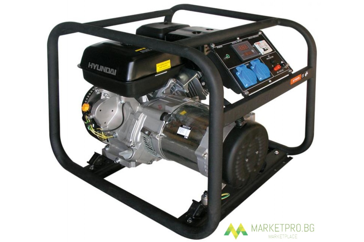 Мотогенератор HY6000 - 4,4 kW HYUNDAI -2 години гаранция- Южна Корея - 08012