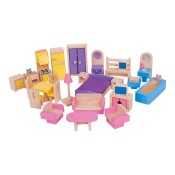 Houses and furniture for dolls