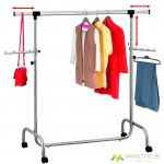 Clothes hangers and stands