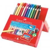 Colored pencils and felt-tip pens
