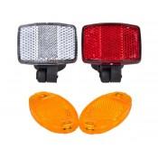 Bicycle reflectors