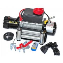 Електрическа лебедка за джип и пътна помощ 12 V - 13500 Lbs / 6136 кг. - 4.5 kw - 6 к.с. - стоманено въже 26 метра / 9.5 мм