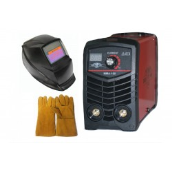 Inverter electric Greenyard - IGBT - MMA 160A real amps with digital display - automatic solar mask - gloves - electrodes 1 mm to 4 mm - 1 year warranty