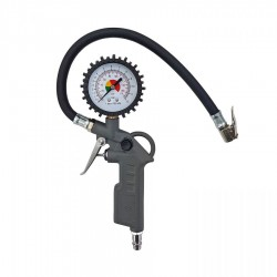 Pistol with nozzle for inflating tires with pressure gauge: - working pressure: 0 - 8 bar